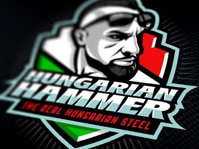 Hungarian Hammer Official Logo branding brand hungarian design wrestling identity logo