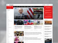 Hírmost desktop layout