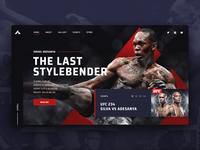 "Israel ""The Last Stylebender"" Adesanya homepage concept"