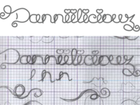 Danniiliciouz: Curliliciouz Logo / Font