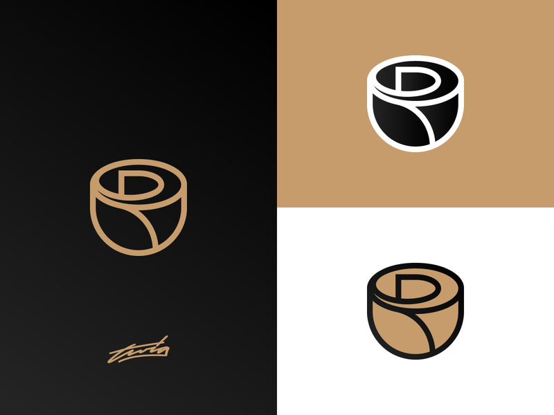 R + Rose Logo for Sale