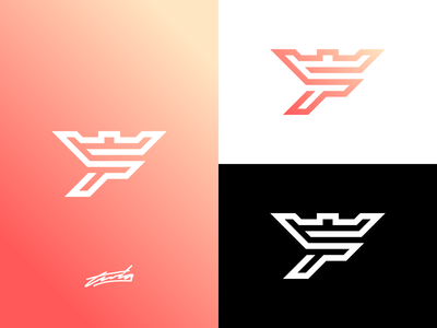 F + Castle Logo Concept for Sale