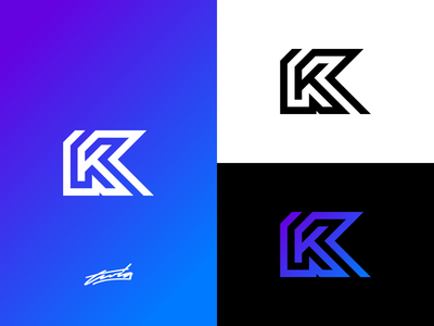K Logo Concept for Sale