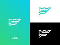 """""""Fortress"""" (F + Castle) Logo for Sale"""