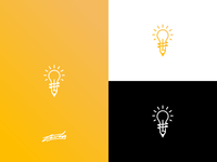 """Creative Mind"" Lightbulb + Pencil Logo Concept"