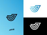 J Logo Concept for Sale