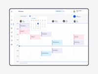 Timetable for Barbershop ui ux webdesign planning plan timeline schedule timetable dashboad admin crm
