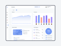 Analytics System for Barbershop light theme web design product design uiux dashboard chart analytics system analytics crm admin panel admin
