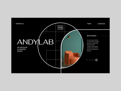 Interior Design Bureau ui web studio animated animation portfolio