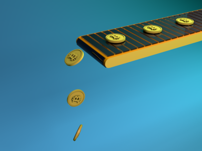 Cryptocurrency 3d render 3