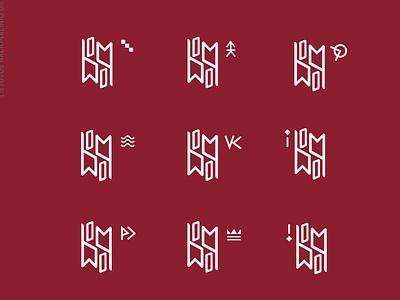 Divisions of National Art Museum of Lithuania royal royalmusuem informationcentre designmuseum seamuseum clockmuseum gallerylogo mueumslogo museum logotype brand logo branding abstract design modern graphicdesign