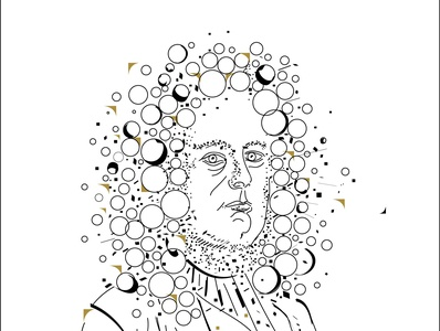 George Frideric Handel handel composer music lithuania poster art drawing portrait vector illustration design graphicdesign modern