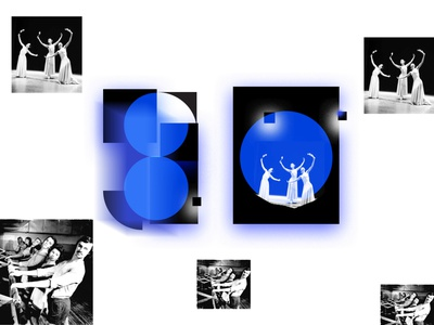 Layout design and number 80 culture futurism dance music dance artcomtemporary lithuaniadesign number80 graphicdesign eventdesign neon blue typography