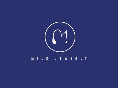 Logo for jewellery designer branding jewellerybrand brand fashion jewellerydesign white graphicdesign kingblue silver luxury milk minimalism elegant logotype logo jewellery