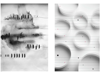 Music visualization 2 concept contemporaryart subtle modernpainting modern inkart music art ink abstraction abstract art abstract guitar piano musicvisualization music