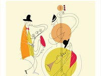 Illustration for jazz concert