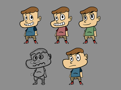 Cartoony Boy Exploration