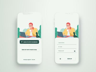 Sign up Design