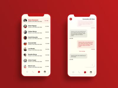 Messenger app concept