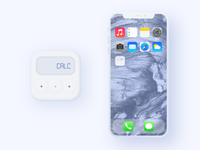 App Icon with soft UI