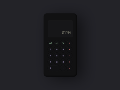 Soft Dark UI Calculator