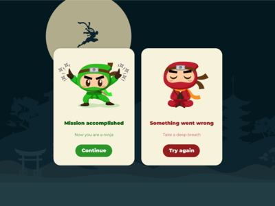 Ninja flash messages