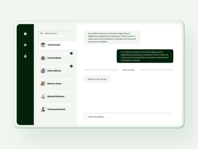 Direct Messaging neumorphic concept