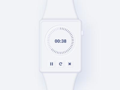 Neumorphic countdown timer