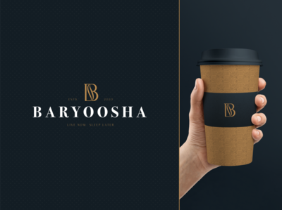 BARYOOSHA Logo and Branding Element minimal logo coffee logo coffee bean coffeeshop coffee cup coffee shop coffee app adobe xd typography logo inspiraldesign graphic clever clean graphic  design adobe