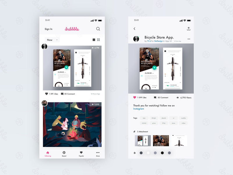 New Dribbble IOS App Design. ui ux design ui design ux  ui adobe xd adobe illustrator graphic  design graphic art uidesign ios app app design ux