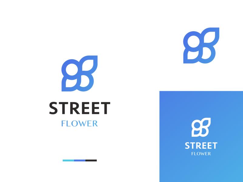 Street Flower Logo Design adobe graphic  design graphic inspiraldesign logo brand logo a day inspiration clever clean minimal logo branding logo design logo