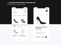 UI Design for Women's Shopping app