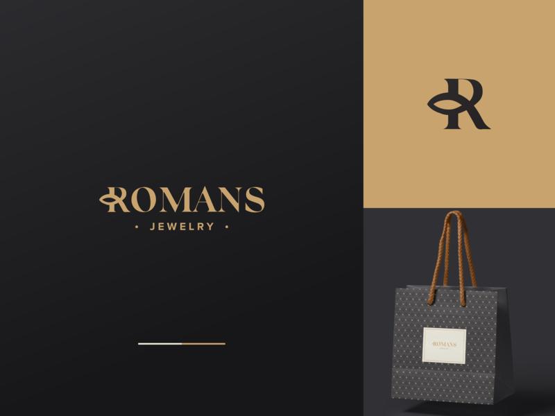 Romans Jewelry Logo Design logoaday design icon branding typography graphic  design adobe inspiraldesign graphic vector clever clean logo jewelry logo jewelry