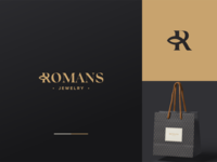 Romans Jewelry Logo Design