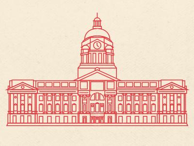 Fort Wayne Courthouse illustration vector design graphic design building indiana