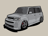 My xB clean vector illustration design graphic design jdm lowrider van car scion xb xb scion