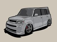My xB clean vector illustration design graphic design jdm lowrider van car scion xb xb scion