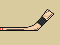 Old Time Hockey Stick