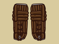 Old Time Hockey Goalie Pads