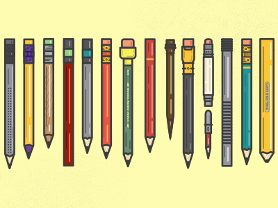 Final Woodclinched Collection pencil flat vector free freebie download illustration graphic graphic design retro vintage