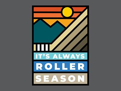 It's Always Roller Season Illustration thick line stroke logo design branding icon vector clean logo minimal illustration design graphic design