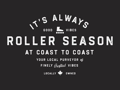 It's Always Roller Season Shirt Design hockey canada typography retro minimal logo design branding vintage clean logo illustration design graphic design