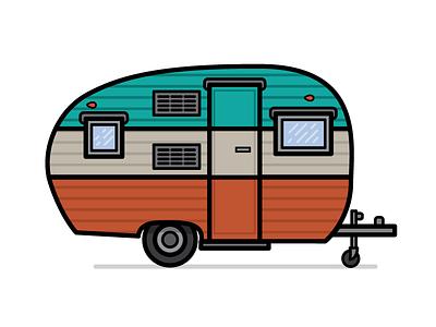 Camper Preview #2 camper vector illustration design graphic design graphics vintage old school rv