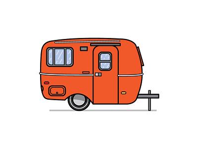 Camper Preview #4 camper vector illustration design graphic design graphics vintage old school rv