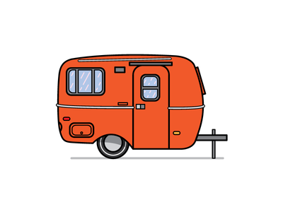 Camper Preview #4 camper vector illustration design graphic design graphics vintage old school rv