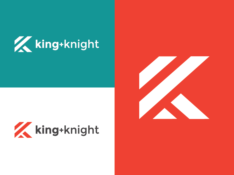king + knight rebrand clean minimal logo design graphic design brand branding lines icon design k logo