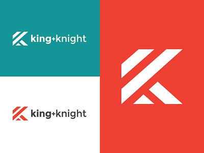 king + knight rebrand clean minimal logo design graphic design brand branding lines icon design k logo