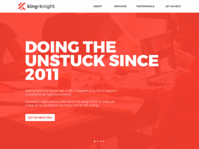 King + Knight Website Redesign