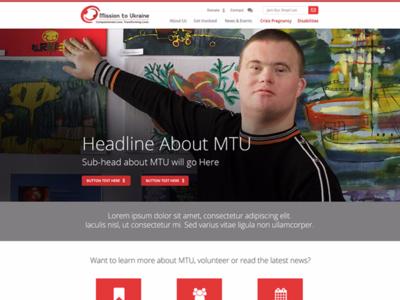 Mission to Ukraine Website Redesign