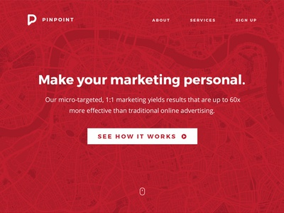Pinpoint One Page Website Comp
